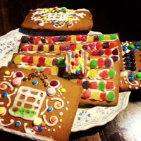 Deconstructed gingerbread house NOT made byme!